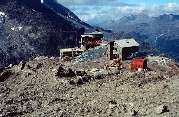 Laengfluh-Bergstation im August 1989 noch im Ausbau begriffen