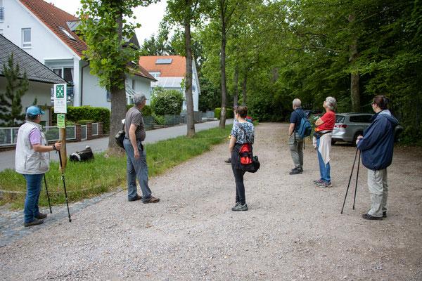 Startpunkt am Friedhof Handschuhsheim (Foto: B. Budig)