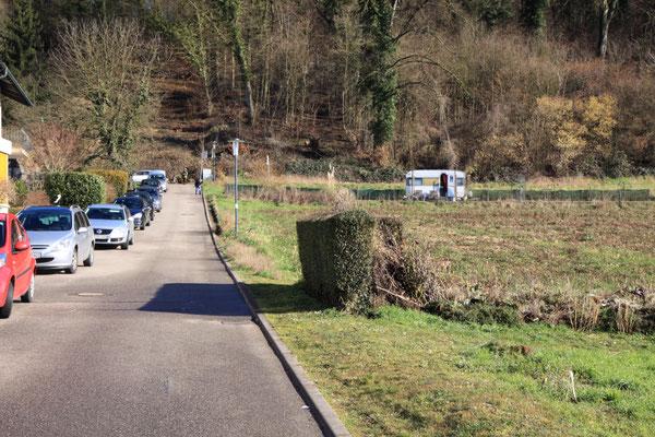 Noch steht der Zaun nicht (Foto: B. Budig)