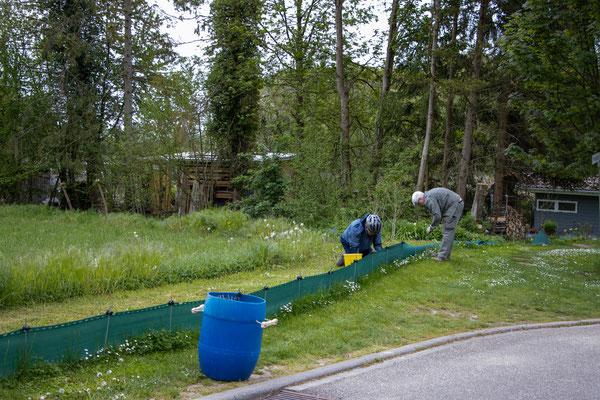 Fleißige Helfer beim Abbau (Foto: B. Budig)