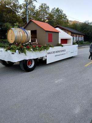 Viel Applaus erntete das gefällige Modell vom Haus des Weins.