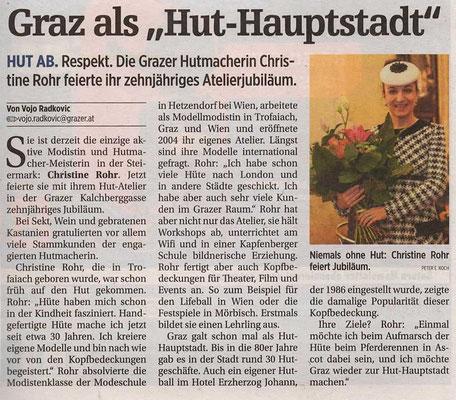 20141002 Der Grazer ZEHNJÄHRIGES ATELIERJUBILÄUM