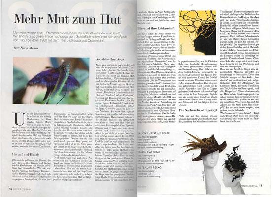 20130726 Wiener Journal MEHR MUT ZUM HUT