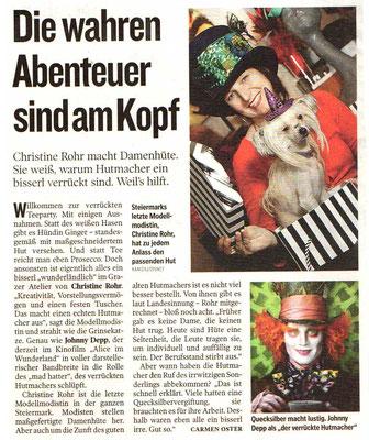 DIE WAHREN ABENTEUER SIND AM KOPF - Kleine Zeitung