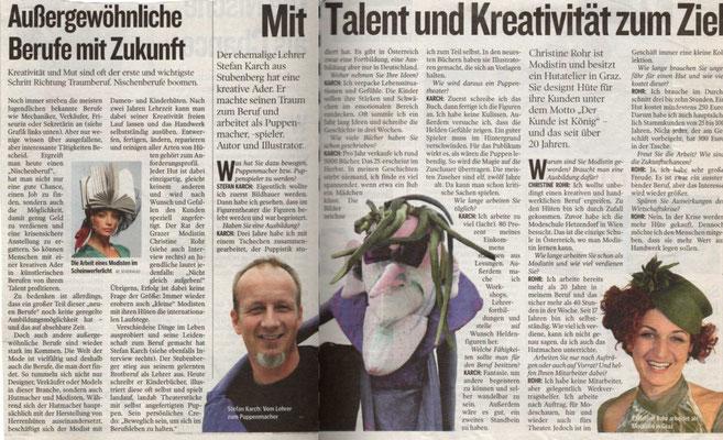 MIT TALENT UND KREATIVITÄT ZUM ZIEL - Kleine Zeitung