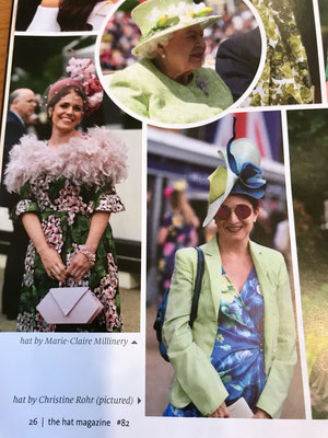 The Hat Magazine August 2019 - Christine Rohr Master Milliner