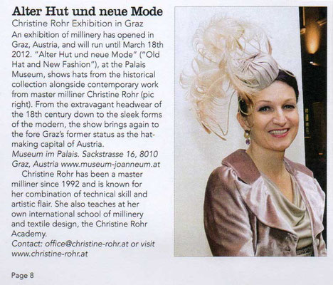 ALTER HUT UND NEUE MODE - The Hat Magazin