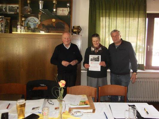 Verleihung  der Ehrennadel in Gold, Kopetzky, Ebner A. Ortner