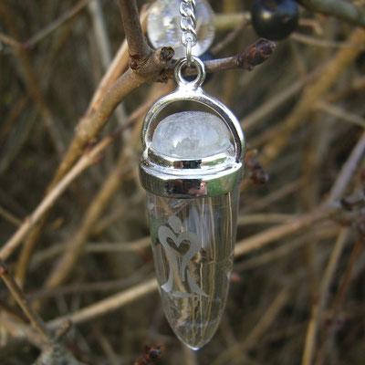 Pendel Bergkristall mit Mondstein