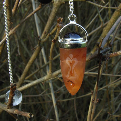 Pendel Carneol mit Granat