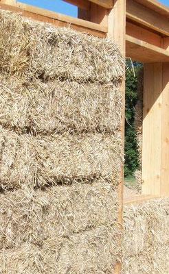 murs ossature bois, remplissage paille