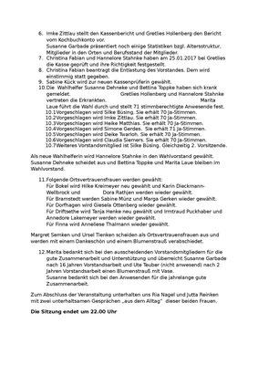 Protokoll Jahreshauptversammlung 15.02.2017