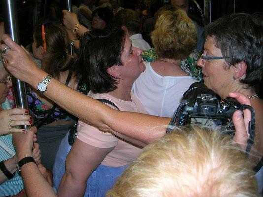 Gedränge in der Metro