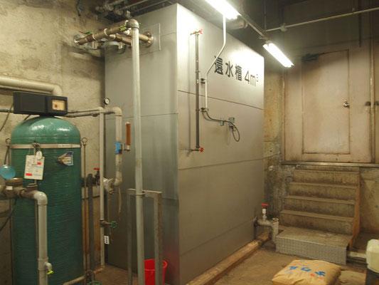 倉敷リバーサイド病院の機械室