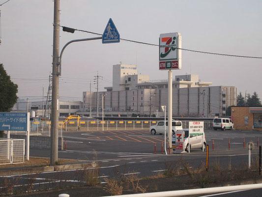 倉敷リバーサイド病院周辺の風景