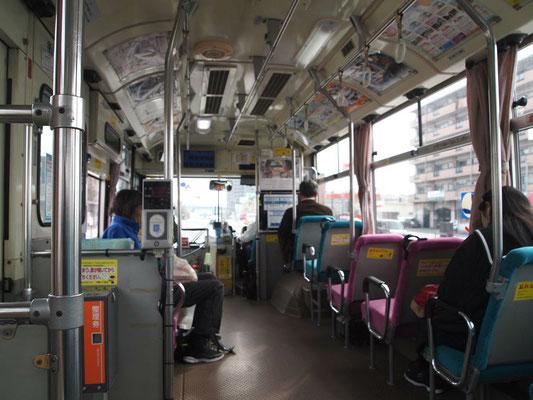 両備バスの車内