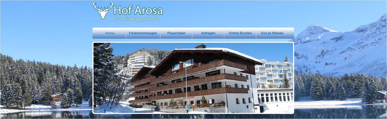 Skiurlaub Arosa - z.B. im Hof Arosa