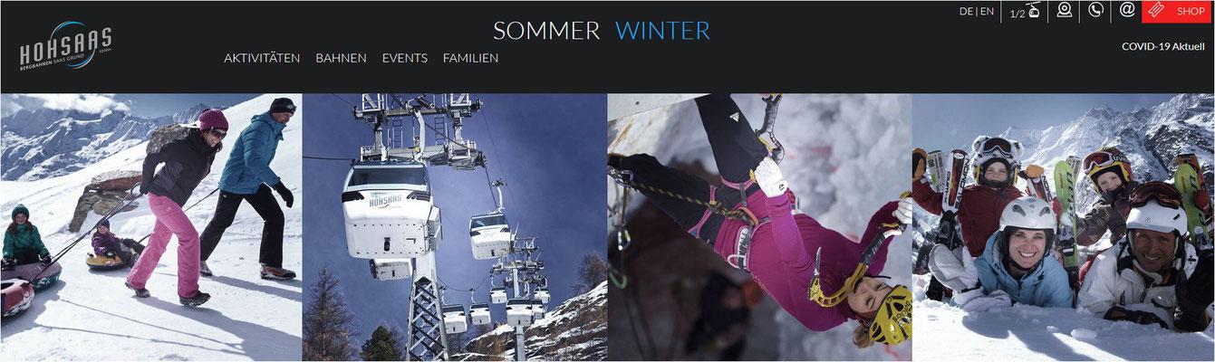 Gutes Skigebiet im Wallis kleine Gondeln