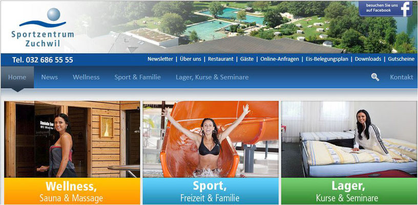 Sportwochen und Trainingslager für Vereine in der Schweiz - Familienzimmer und Doppelzimmer