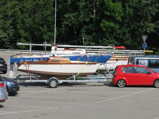 """Meine beiden Schiffchen: """"Le Grand Bleu"""" und """"Anna Pink"""""""
