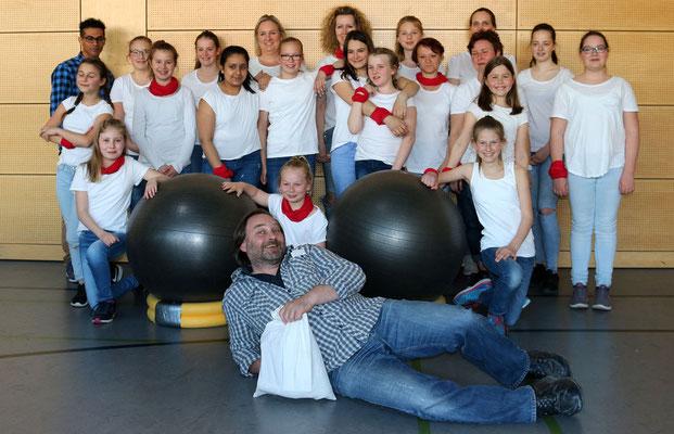 Die Sportgruppe Drums Alive der Büdinger Turnerschaft