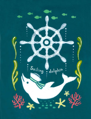 Sailing dolphin