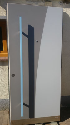 UNILUX Holz-Alu-Haustür 2-farbig