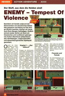 Review in der Amiga Games Ausgabe  9/1997.