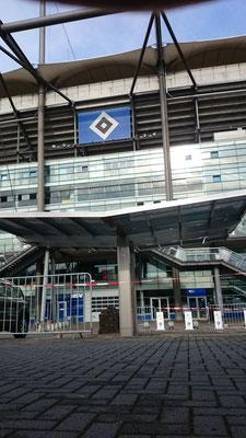 Aluport Monaco Double Designcarport aus Aluminium für zwei Autos auf dem VIP Parkplatz Volksparkstadion Hamburg