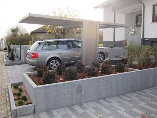 Aluport Monaco Single Designcarport aus Aluminium
