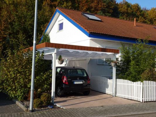 Carport-Discount.de Einzelcarport mit Faserzementschindeln