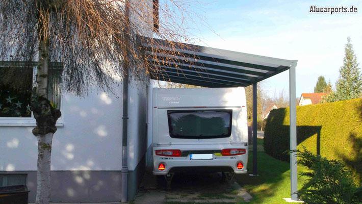 Anbaucarport aus Aluminium für Wohnmobil von Alucarports.de