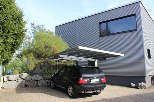Aluport Monaco Design Einzelcarport aus eloxiertem Aluminium