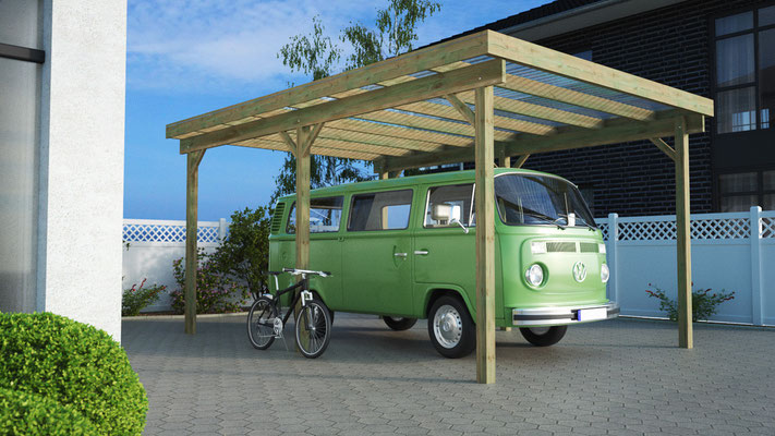 Caravancarport XL von Carport-Discount.de