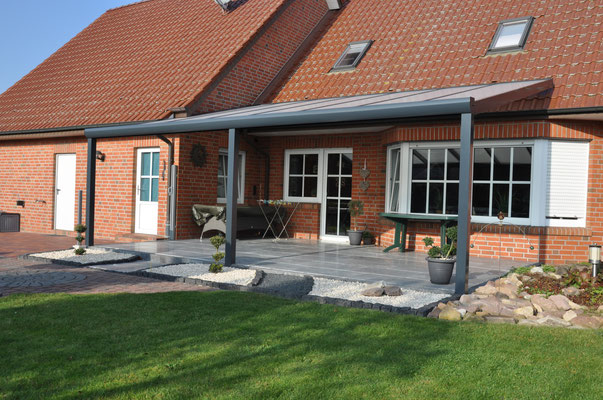 Terrassenüberdachung mit Aufdachmontage