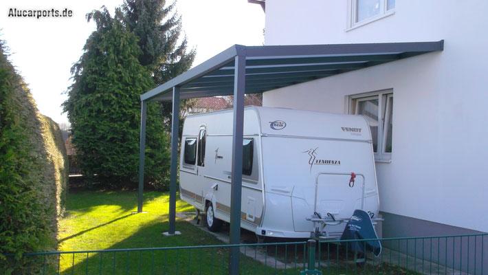 Anbaucarport Typ G aus Aluminium für Wohnmobil von Alucarports.de