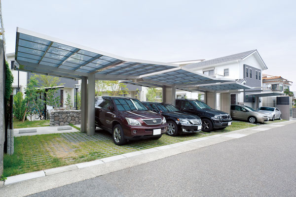 Aluport Monaco Double Designcarport aus Aluminium für zwei Autos