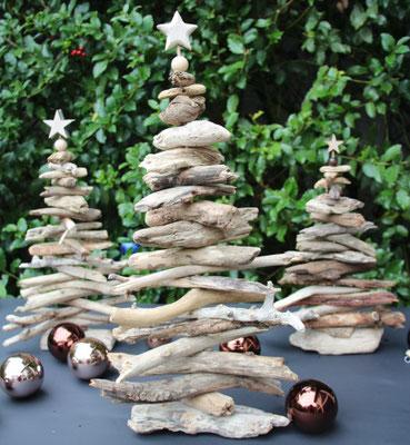 Dekoidee - Viele Treibholzbäume in unterschiedlichen Größen selbst gestalten.