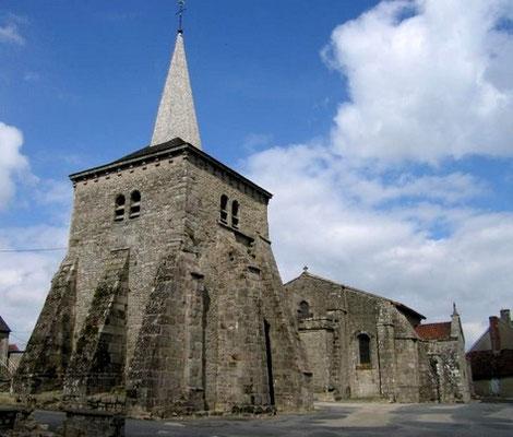 Toulx  Sainte Croix  et son église classée du XIe siècle à 656 m d'altitude