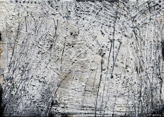 Wo alles begann ..., Eitempera mit Sand auf Leinwand, 70 x 50 cm, 2021