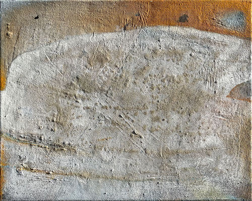 Die Sandbänke der Wirklichkeit, Eitempera mit Sand auf Leinwand, 50 x 40, 2021