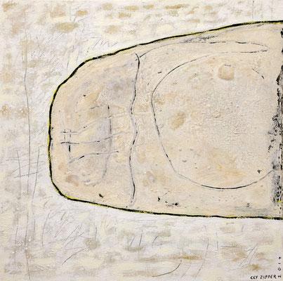 Ist Situation; Eitempera auf Leinwand mit Sand, 2014, 80 x 80 cm