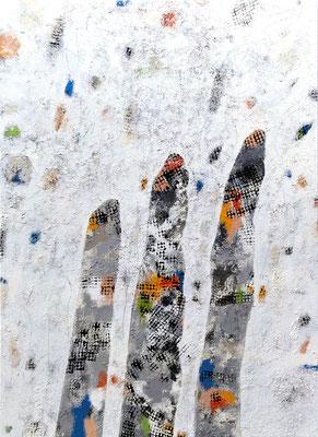 Zukunft; Eitempera auf Leinwand mit Sand, 2014, 100 x 140 cm
