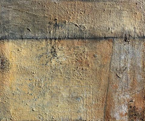 Die sichtbare Stille, Eitempera mit Sand auf Leinwand, 59 x 49, 2021