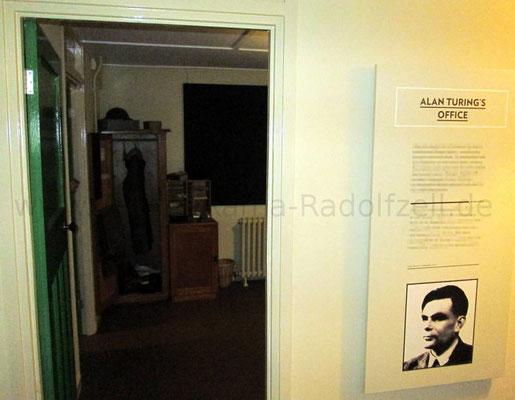 In diesem Büro in Hütte 8 arbeitete Alan Turing in Blatchley Park.