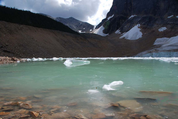 Am Edith Cavell Glacier im Jasper Nationalpark