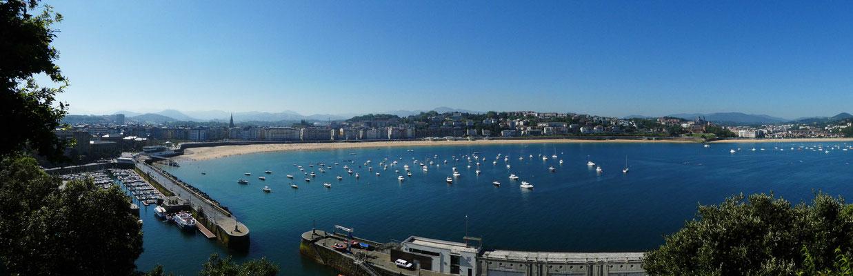 Blick vom Berg Urgull auf San Sebastian