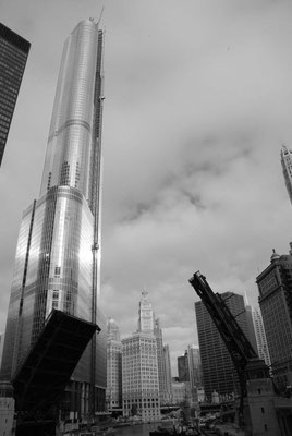 Hochhäuser in schwarz weiß