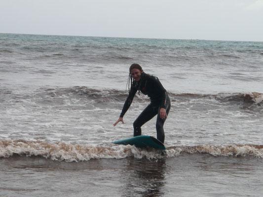 Neuseeland - Versuch auf der Welle zu reiten...