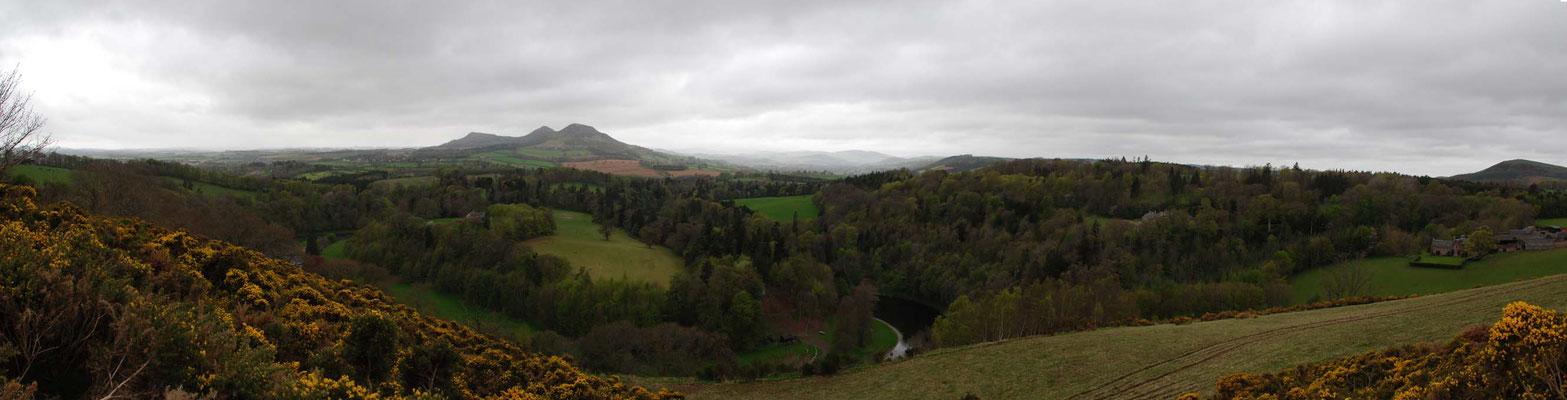 Scott´s View benannt nach Sir Walter Scott